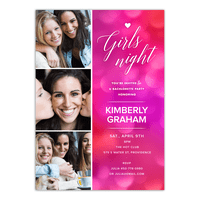 Personalized Wedding Bachelorette Party Invitation - Girls Night - 5 x 7 Flat