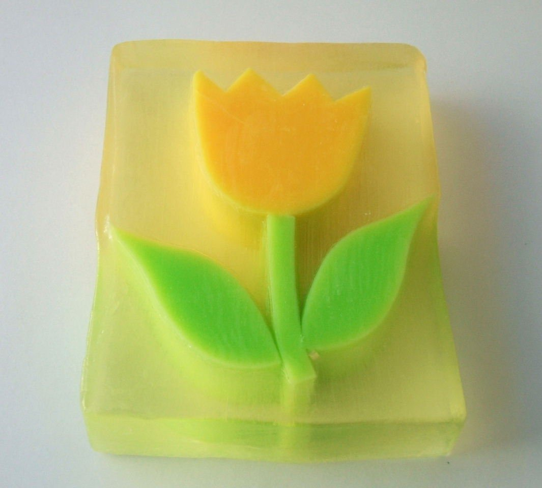 Tulip Flower Large Glycerin Soap, Our soaps are made using 100% pure  vegetable glycerin