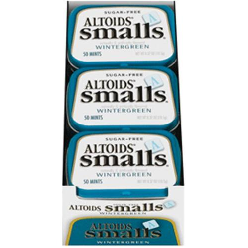 Altoids Smalls Sugar Free Wintergreen Mints 9 packs (0.5oz per pack) (Pack of 4) by