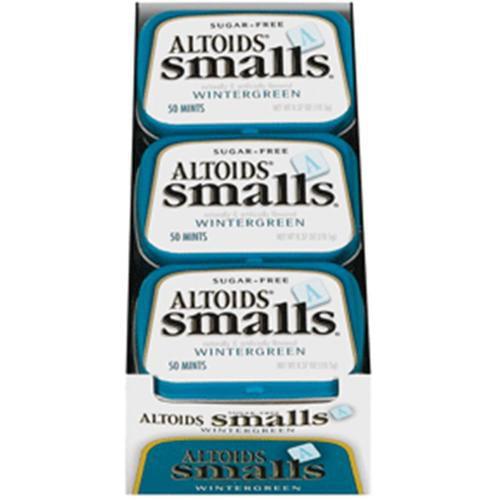Altoids Smalls Sugar Free Wintergreen Mints 9 packs (0.5oz per pack) (Pack of 4)