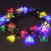 product image christmas string lights 2 pack led solar christmas lights 246ft 40 led butterfly fairy
