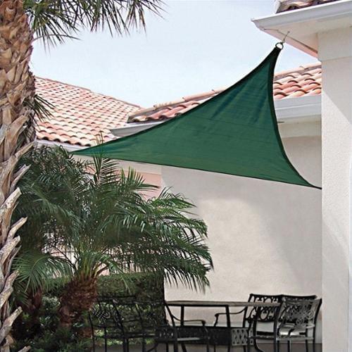 ShelterLogic ShadeLogic 16' Heavy Weight Triangle Sun Shade Sail in Evergreen