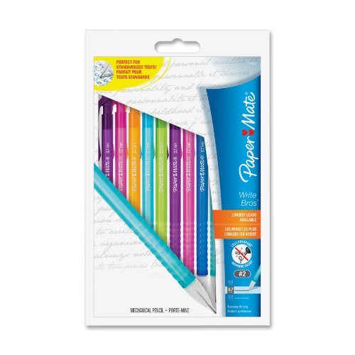 Paper Mate Write Bros Mechanical Pencil - 0.7 Mm Lead Size - Assorted Barrel - 10 / Pack (PAP74403)