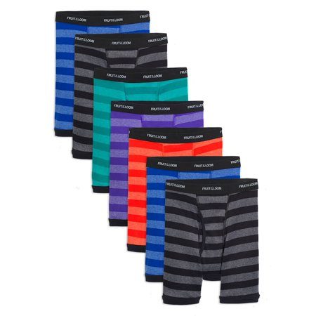 Fruit of the Loom Assorted Cotton Boxer Briefs, 7 Pack (Little Boys & Big (Fruit Of The Loom Trunk Boxer Briefs)