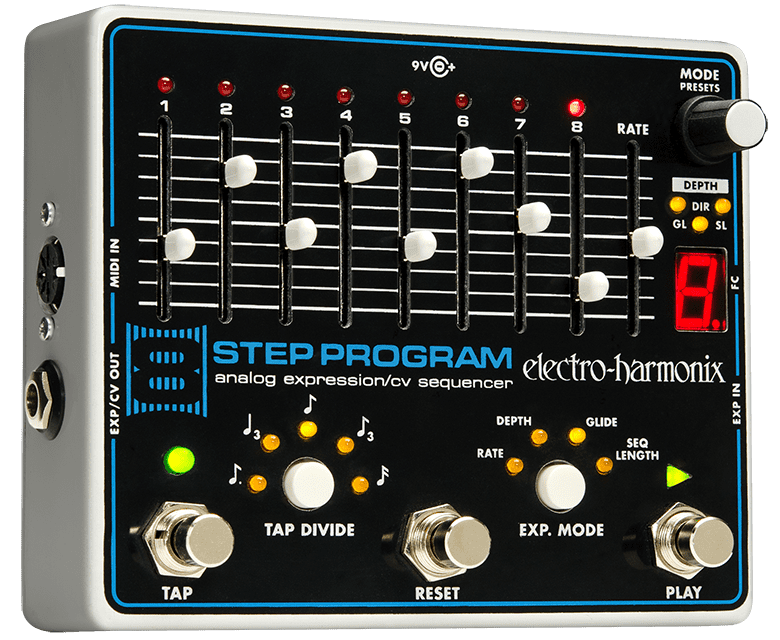 Electro Harmonix 8 Step Program Analog Expression Sequencer Guitar Pedal by Electro-Harmonix