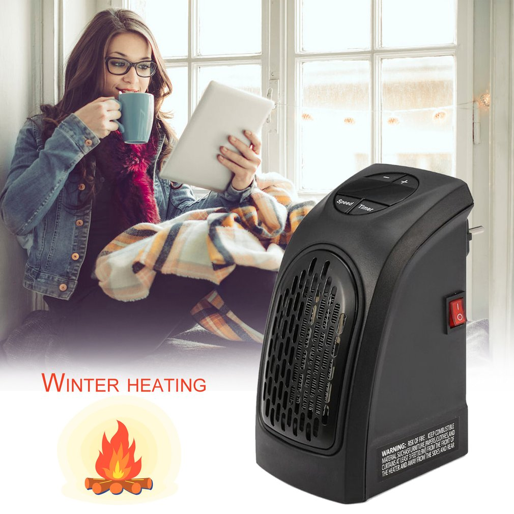 Mini Handy Heater Fan Electric Radiator Heater Plug in Hot Air Heater