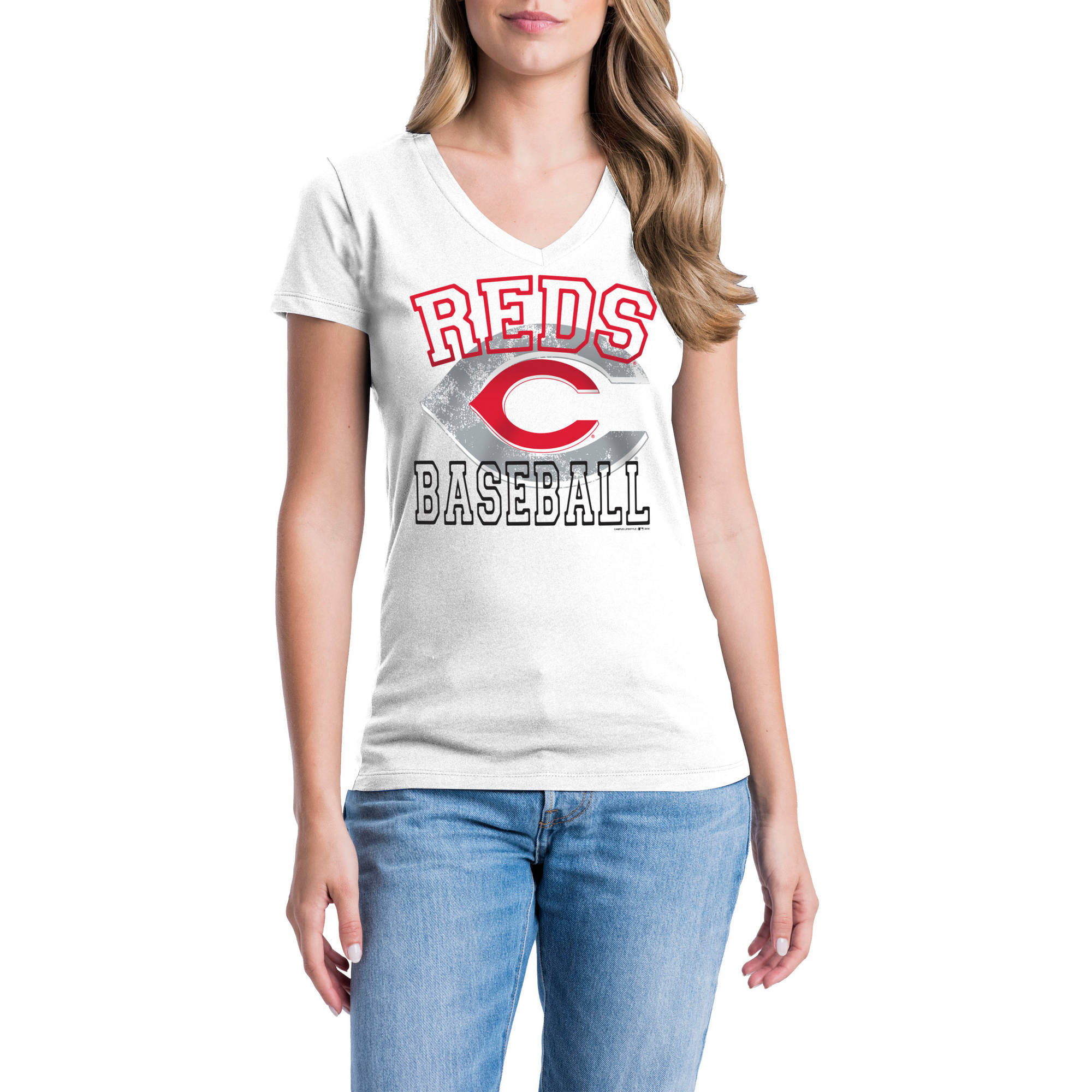 Cincinnati Reds Womens Short Sleeve Graphic Tee