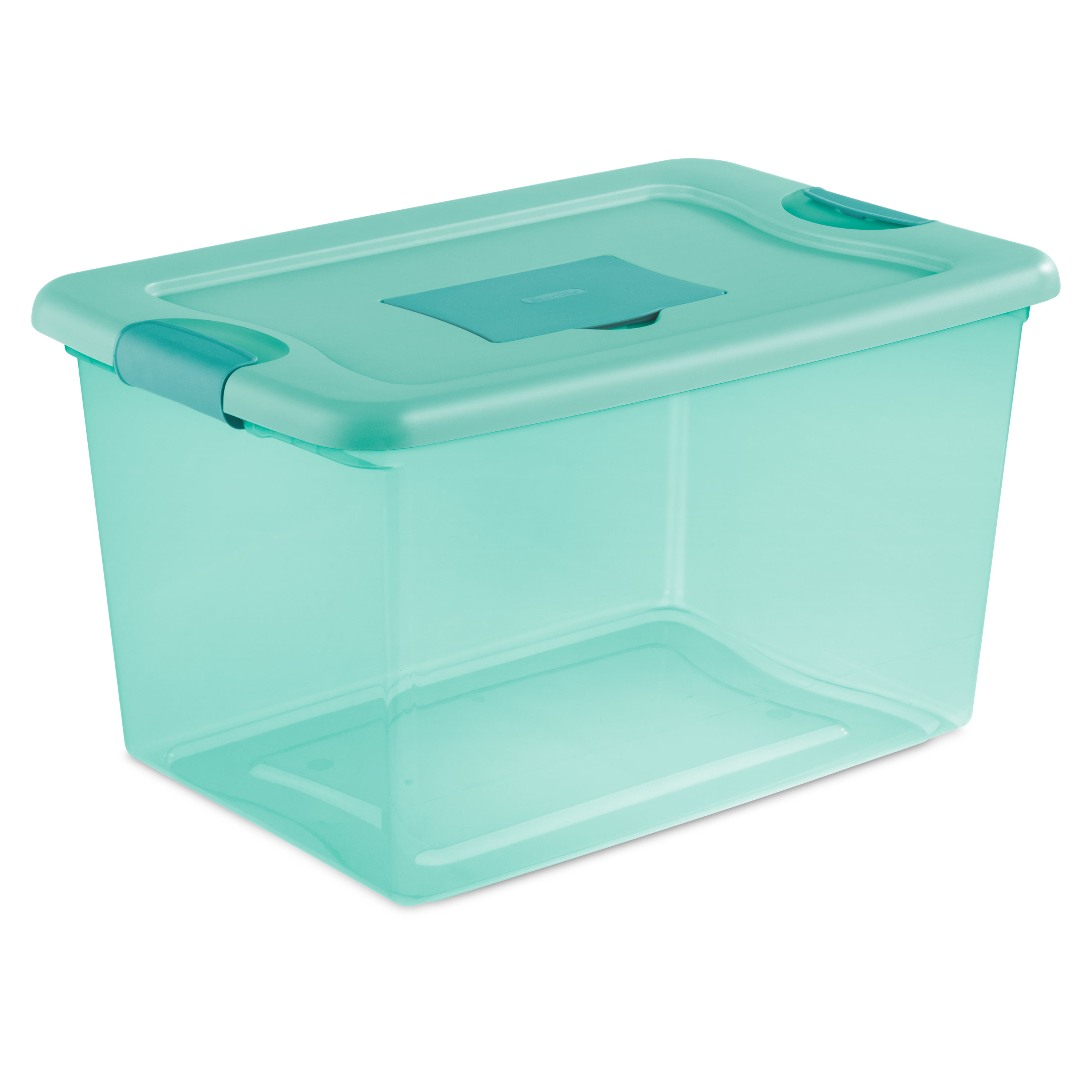 Sterilite 16 Gallon Aqua Tint Fresh Scent Box