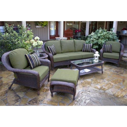 Tortuga Lexington 6 Piece Outdoor Sofa Sets-Java Rave Lemon