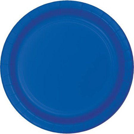 Cobalt Luncheon Plate - Creative Converting 317375 Cobalt Luncheon Plate (Case Of 12)