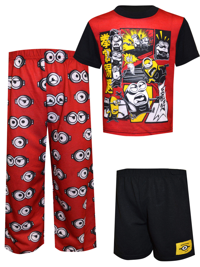 Boys Girls Kids Ex-Store Minions Pajamas PJ/'s T-Shirt Shorts Set Lounge 2-14 Yrs