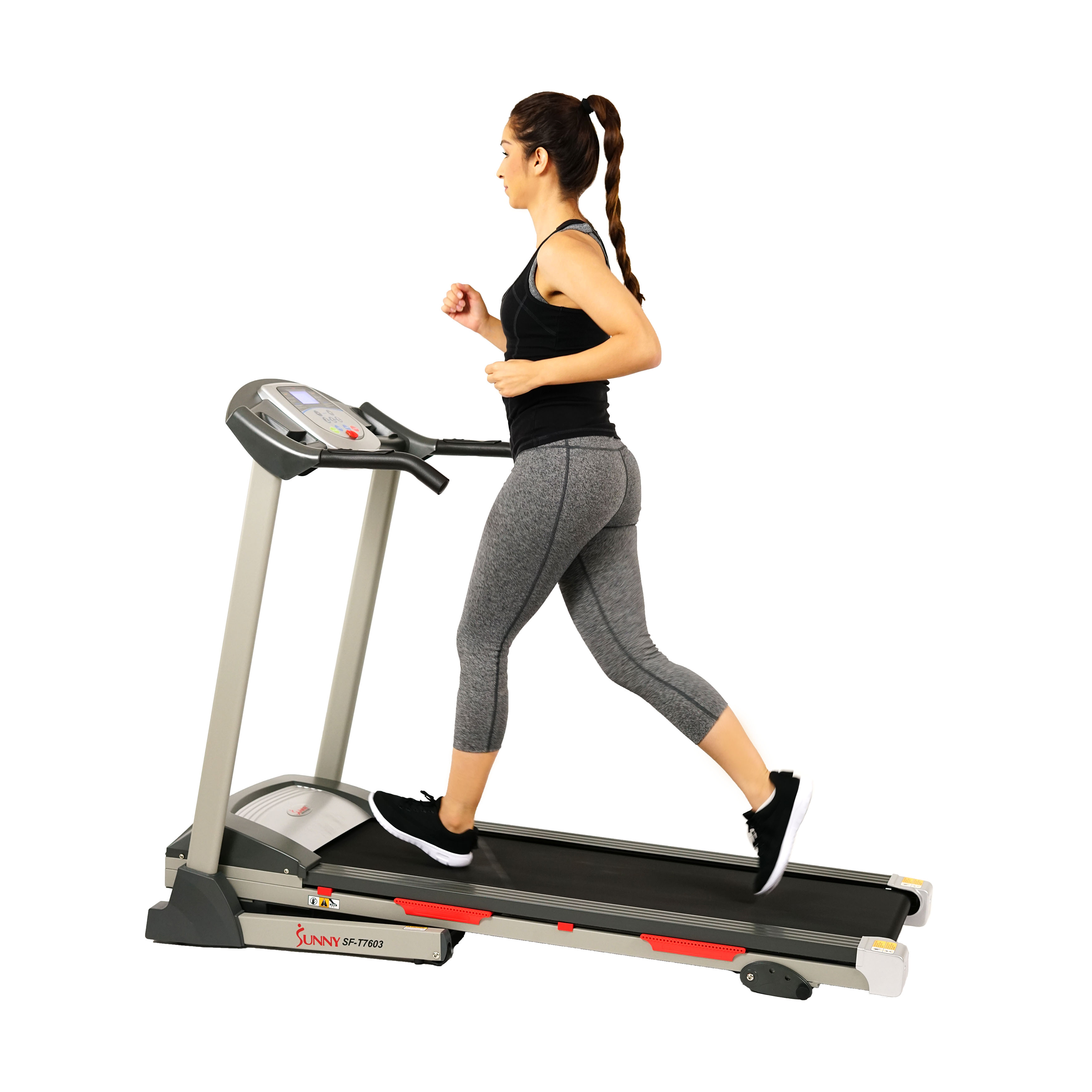 Sunny Health & Fitness SF-T7603 Motorized Folding Treadmill w/ Manual Incline