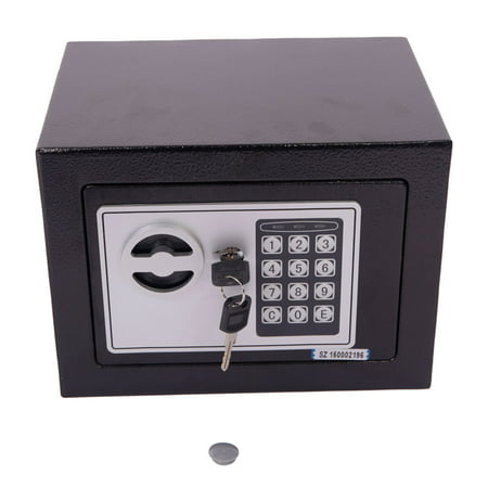 Security Safe Lock Box for Home, Business or Travel, Black