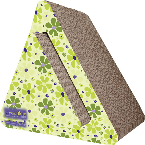Imperial Cat Scratch 'n Shapes Triangle Combo Recycled Paper Scratching Post