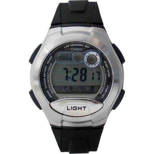 Casio W752-1A Men's Casual Sports Digital Grey Dial Black Rubber Strap Alarm Watch