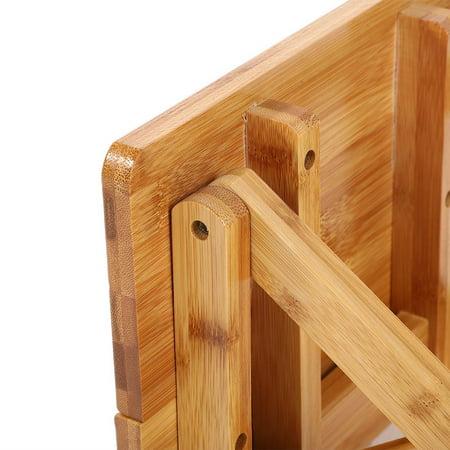 Ejoyous Bambou pliant tabouret Portable ménage réel en bois chaise de pêche extérieure pliable petite chaise, tabouret pliable, tabouret en bambou - image 4 de 6