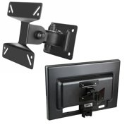 """Insten Wall Mount Bracket For Flat Panel LCD / Plasma TV [B01], Max 33lbs, 10"""" - 24"""", Black (with Tilt and Swivel Angle)"""