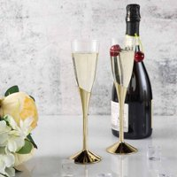 Efavormart 30 Pcs 6oz Disposable Clear Plastic  Champagne Flutes for Wedding Birthday Party Banquet Events Cocktail Cups