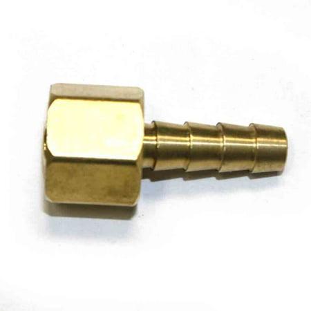 Interstate Pneumatics FFS244 Brass Hose Fitting, Connector, 1/4