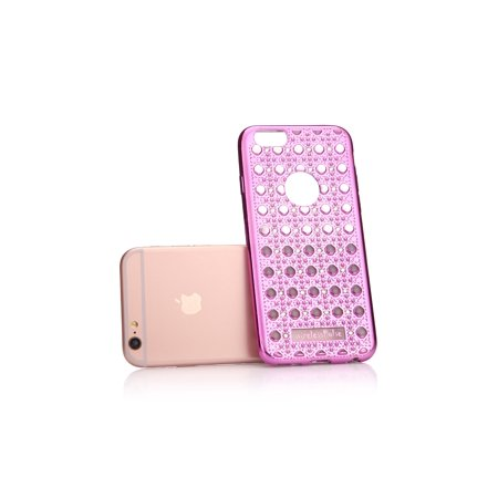 Hot Pink New Fashion Designer Iphone Se Case Luxury Crystal Diamond Vintage Transparent Shockproof Soft Slim Tpu Bling Iphone 5 Case Cover Rhinestone Iphone 5s Case With 3d Effect Walmart Com