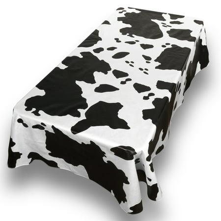 Carnation Moo Cow Print Premum Vinyl Flannel Back Oblong Oblong