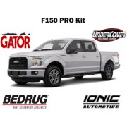 """Gator PRO Accessory Kit fits 2015-2019 Ford F150 SuperCrew 5.5 FT Gator SR1 Roll-Up Tonneau Cover Ionic 5"""" Nerf Bars BedRug Impact Bed Mat UnderCover Swing Case"""