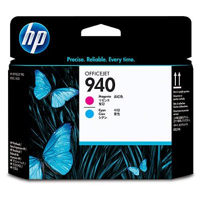 HP 940 Magenta and Cyan Original (Light Cyan Printhead Cleaner)