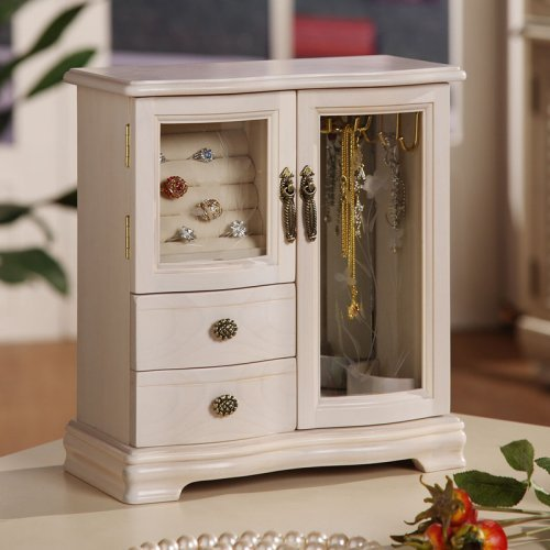 Classic 2-Door Jewelry Box - 10W x 10.5H in.