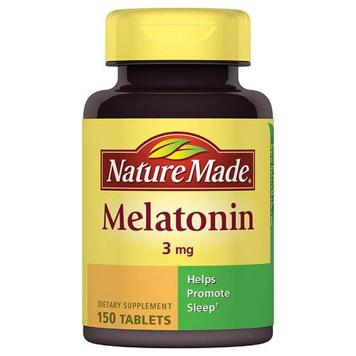 Nature Made Melatonin Dietary Supplement Tablets, 3mg, 150 count