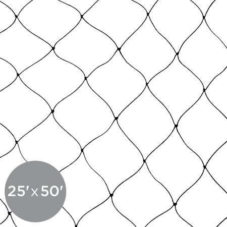 Best Choice Products 25x50ft Multi-Filament Protective Square Mesh Bird Netting for Birds, Poultry, Game, Garden, Yard, and Pens - -