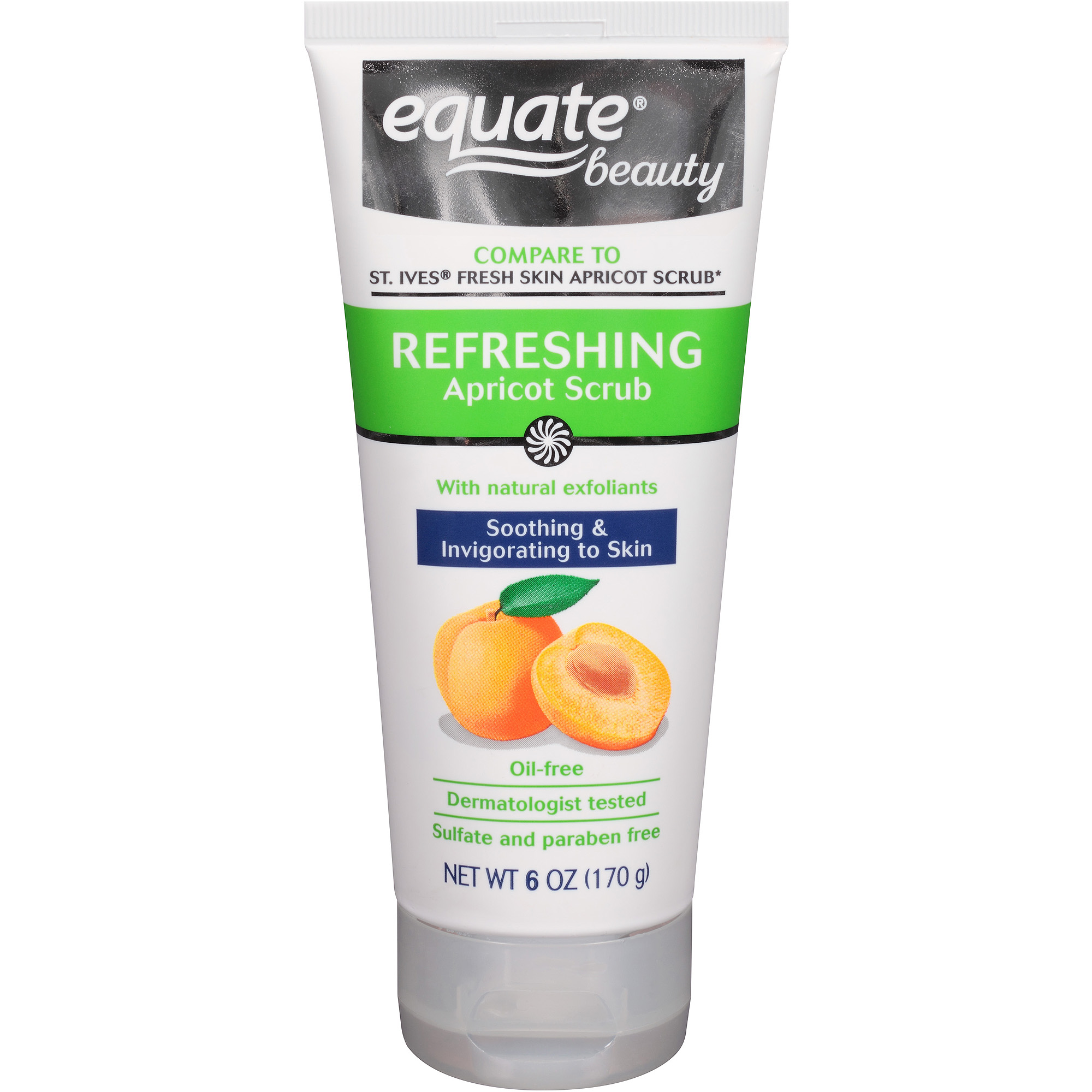 Equate Beauty Refreshing Apricot Scrub, 6 oz