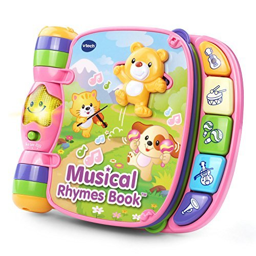 VTech Musical Rhymes Book Pink Online Exclusive by VTech