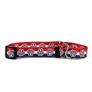 patriotic paw martingale control dog collar - size large 26 long - made in the usa