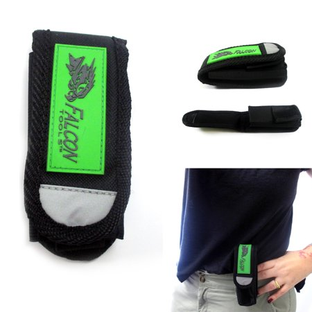 Flashlight Holster Black Nylon Holder Belt Pouch Case LED Torch Belt Loop Pocket