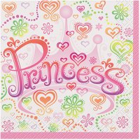 Princess Diva Beverage Napkins, 16ct