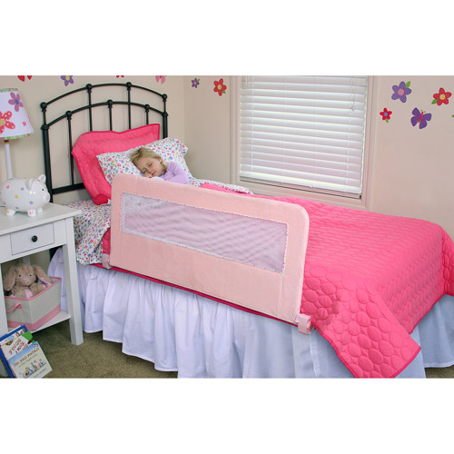 Regalo Pink Plush Swing Down Bedrail