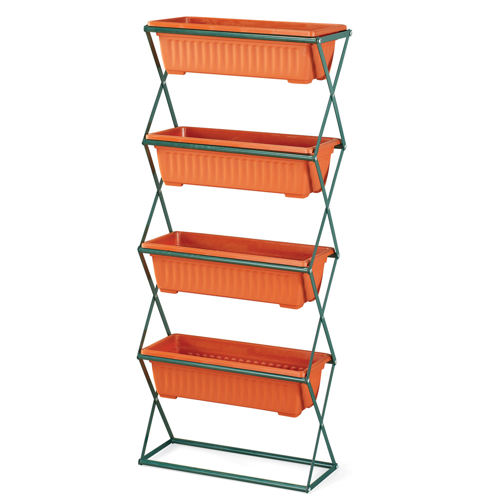 4-Tier Vertical Space-Saving Planter for Any Seasonal Arrangement - Display Year Round