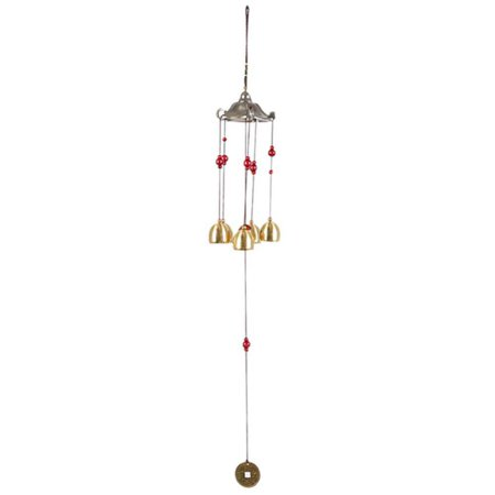 Image of Elegant Copper Bell Wind Chimes Antirust Outdoor Tower Design Hanging Decorations Birthday Gifts The Best Wishes For Home Décor