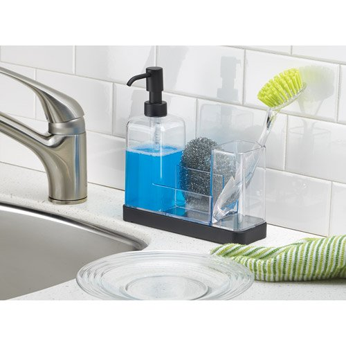 InterDesign Forma Kitchen Soap Dispenser Pump, Sponge