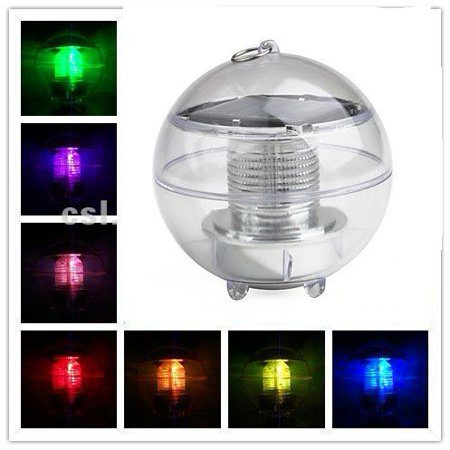 Solar Power Led Color Changing Globe Night Light Lamp