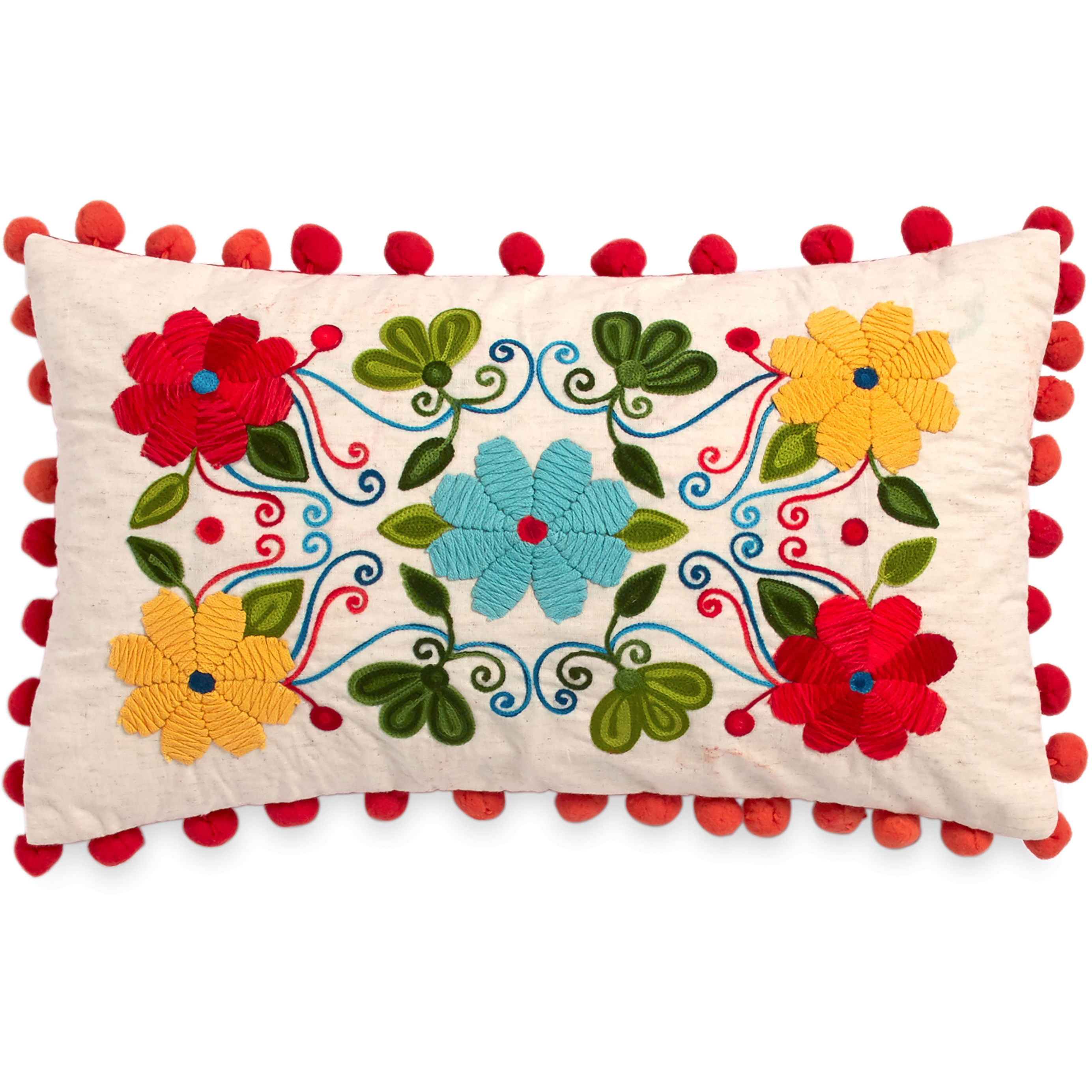 The Pioneer Woman Floral Embroidery 12x20 Decorative Pillow by CHF Industries, Inc.