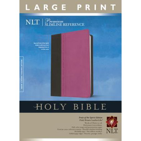 Premium Slimline Reference Bible NLT, Large Print, TuTone (Red Letter, LeatherLike,