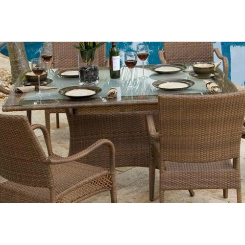 Hospitality Rattan Grenada Patio Rectangular Dining Table