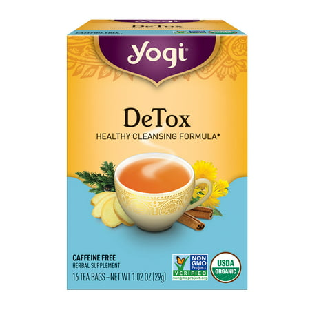 (6 pack) Yogi Tea, DeTox Tea, Tea Bags, 16 Ct, 1.02 OZ