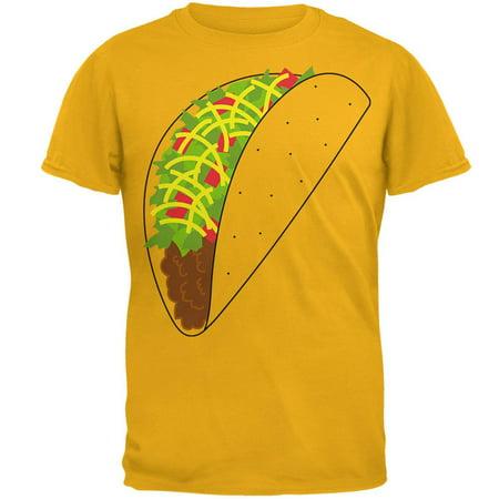 Halloween Costumes Nz Cheap (Halloween Taco Food Costume Mens T Shirt Gold)
