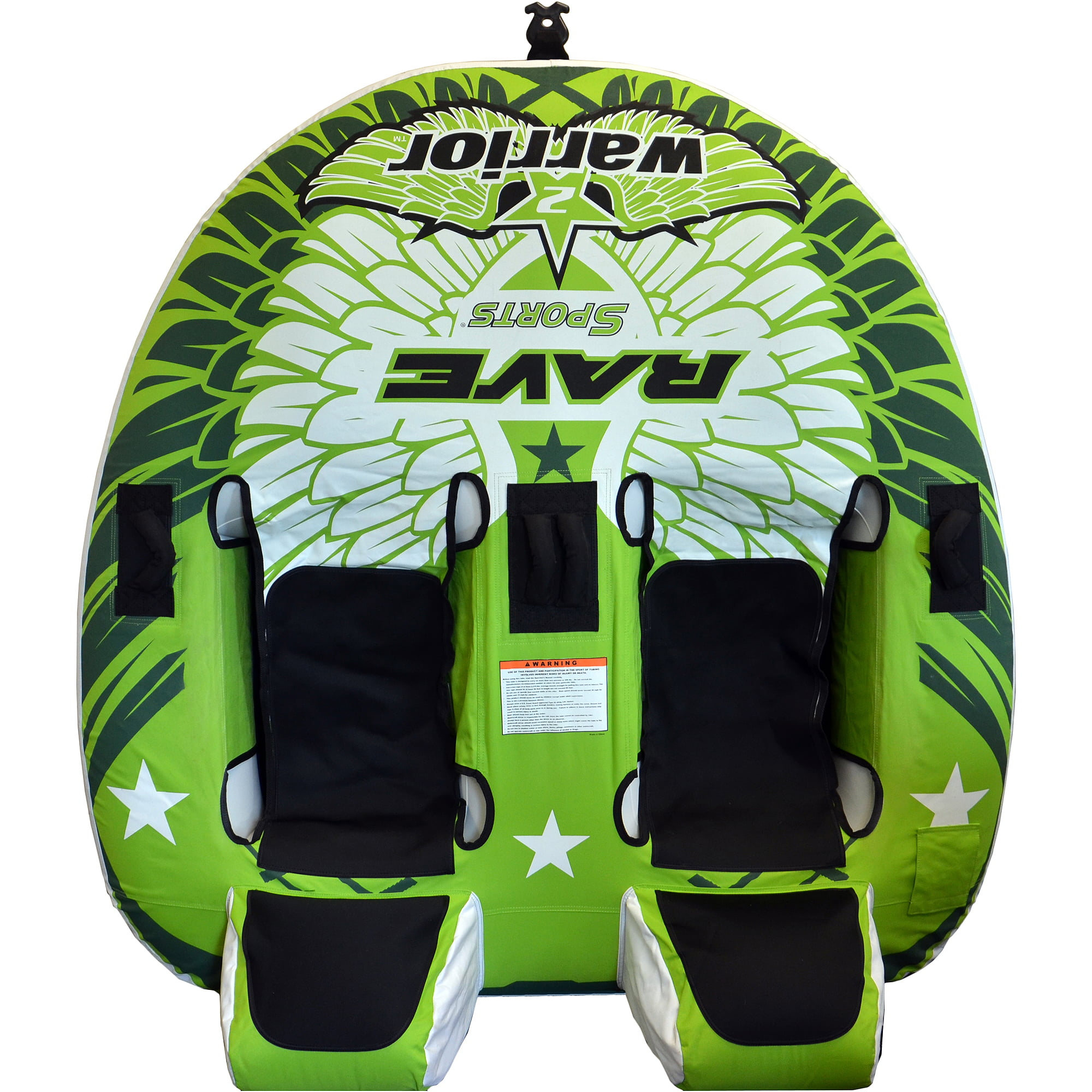 Rave Sports Warrior 2-Rider Sit-On-Top Design Towable by Rave Sports