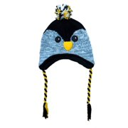 Aquarius Boys Black Owl Critter Style Peruvian Hat