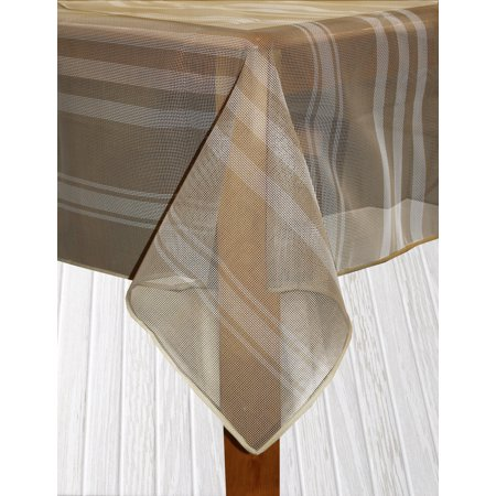 Bistro Stripe Indoor/Outdoor Table Cloth, Sand