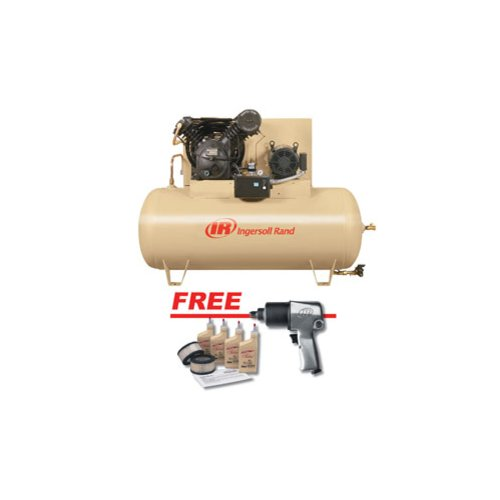 Ingersoll Rand Compressors 2545E10-VPTS Electric Driven Two Stage 10 HP w/ FREE Air Impact Wrench an