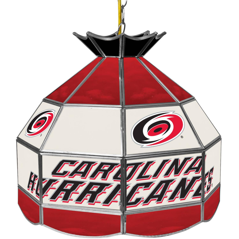 "NHL 16"" Handmade Tiffany Style Lamp, Carolina Hurricane"